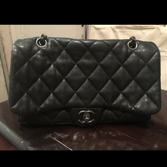 CHANEL Handbags - CHANEL Lambskin Quilted Chanel 3 Flap Bag Black